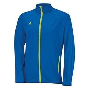 adidas Golf Men's Puremotion Wind Jacket, Bright Royal/Solar Slime, (Adidas Lightweight Vest)