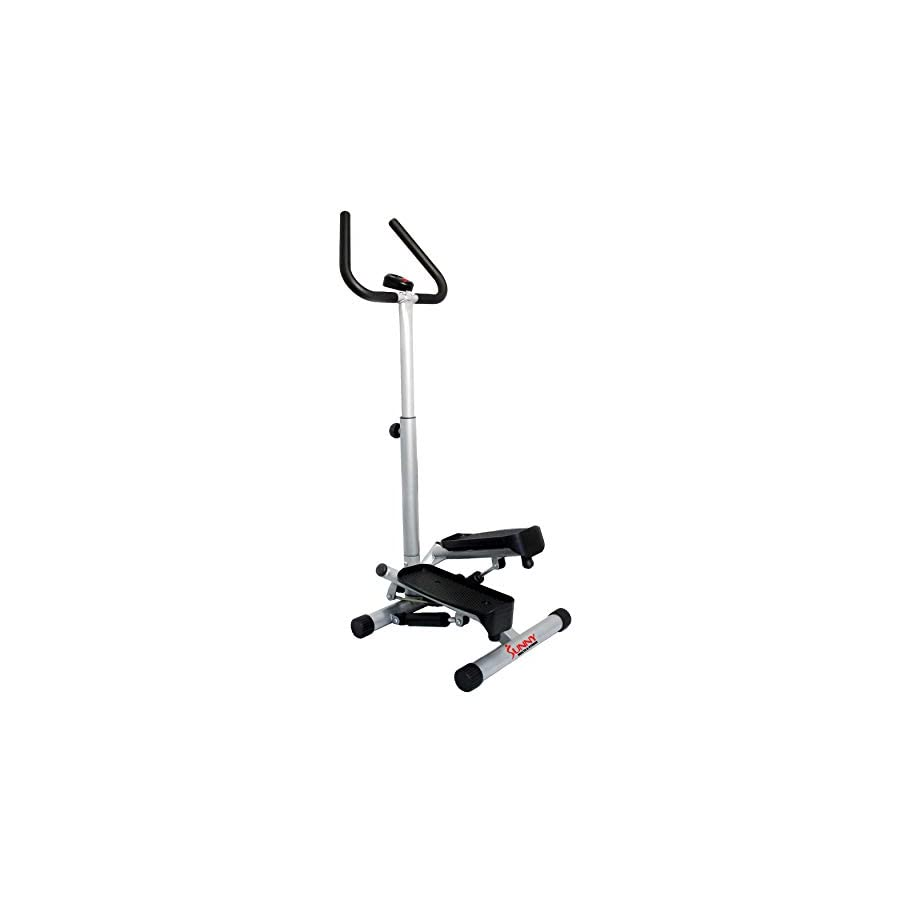 Sunny Health & Fitness Twist Stepper Step Machine with Handle Bar and LCD Monitor No. 059