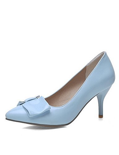 GGX/Damen Pull auf Patent Leder Spitz geschlossen Zehen spikes-stilettos pumps-shoes blue-us9 / eu40 / uk7 / cn41