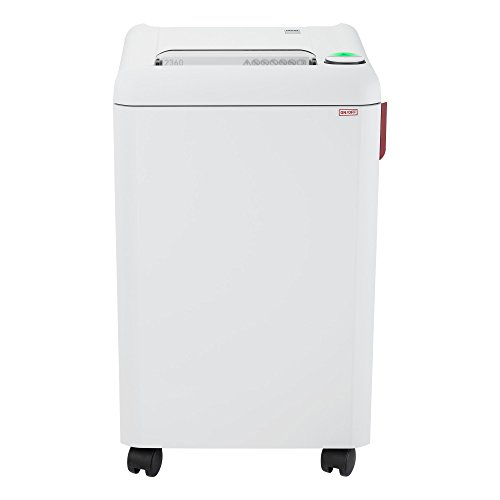 ideal. 2360 Continuous Operation Strip-Cut Deskside Paper/Staple/Paper Clip/Credit Card Shredder, 12–14 Sheet Feed Capacity, 9 Gallon Bin, 1/2 Horsepower Motor, P-2 Security Level by ideal.