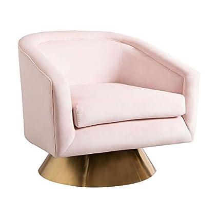 Fine Amazon Com Abbyson Living Jaxon Blush Pink Velvet Swivel Machost Co Dining Chair Design Ideas Machostcouk
