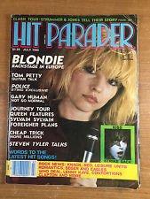 Hit Parader Magazine July 1980 Blondie Cover + Tom Petty, Police Sting, Gary Numan, Journey, Queen, Sylvain Sylvain, Foreigner, Cheap Trick, Steven Tyler Aerosmith, Kiss, Heart, Steve Walsh Kansas, The Knack, Lenny Kaye, Joe Jackson, Rush, The Clash ()
