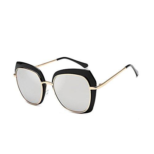 Générique White Mercury Soleil Femmes Blue Box Couleur New Lunettes UV Lunettes de Sunglasses pour Sunglasses Transparent de Sunglasses Film Black Color Box Square Soleil rrgBwZq