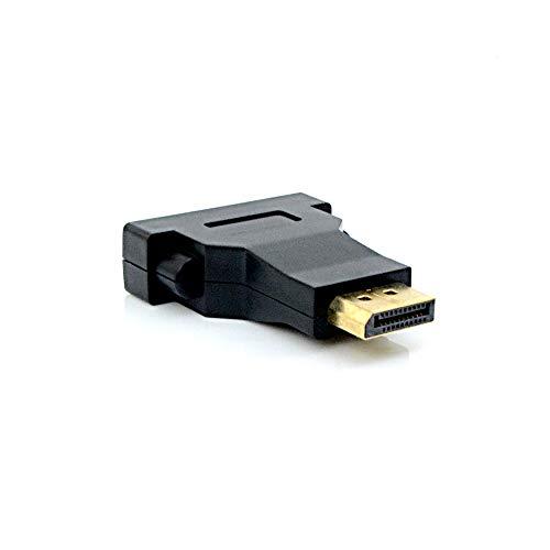ADAPTADOR DVI F/DP M ADP-102BK PLUSC, Plus Cable, Adaptadores, Preto