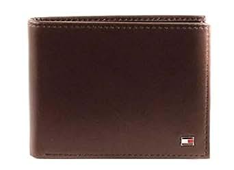Tommy Hilfiger Men's Eton Mesh Flap Wallet, Brown, One