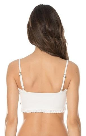 Isabella Rose Women's Crystal Cove Bandeau Top White L