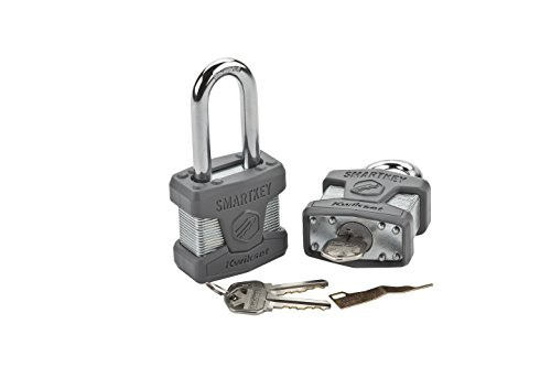 Kwikset 50MM SmartKey Padlock Long Shackle in Satin Chrome Photo #2