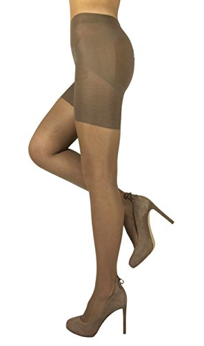 Sheer Shaping Pantyhose Uplifting Slimming Tights Shaper (4 - Large, Light Natural)