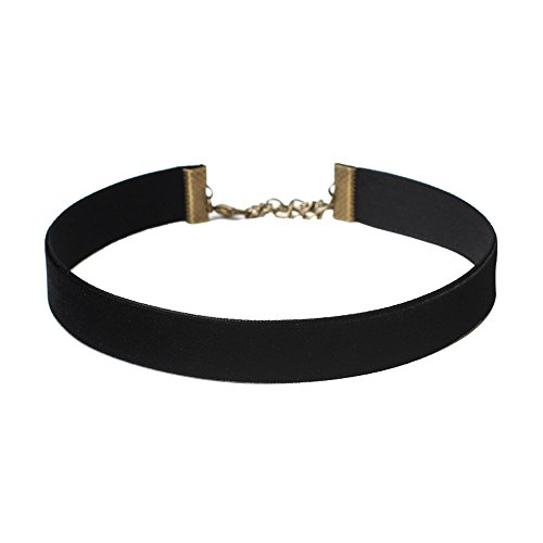 Gbell Girls Women Simple Black Clavicle Choker Short Necklace Chain Ajustable (Black)