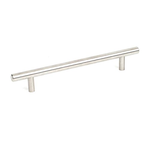 Century Premium 304 Grade Stainless Steel T-Handle Heavy Duty Kitchen Cabinet Pull, Bathroom-40459A-, 160 mm c.c 220 mm overall, 40459A-32D-Brushed Stainless Steel-Value Pack of 100