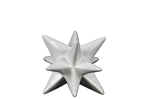Urban Trends Ceramic Stellated Icosahedron Sculpture, Small, Gloss White from Urban Trends