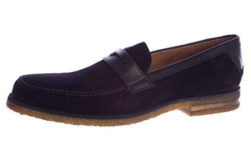 John Varvatos Men's Suede Monaco Crepe Penny Loafers 11 Black