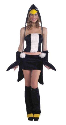 Sexy Penguin Costumes (Forum Novelties Women's Furry Favorites Pleasing Penguin Costume, Black/White, Medium/Large)