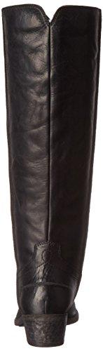 Frye Ray de la mujer costura Tall botas de equitación Black-75888