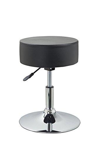Hocker für küche  Drehhocker Sitzhocker Schwarz Hocker RUND höhenverstellbar aus ...