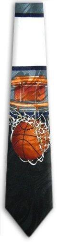 BB25 - Mens Basketball Theme Novelty Tie