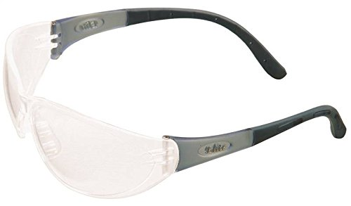 MSA 10038845 Arctic Elite Sightgard Indoor Humid Condition Safety Glass with Black Frame, Polycarbonate, Clear Anti-Fog Lens, Clear