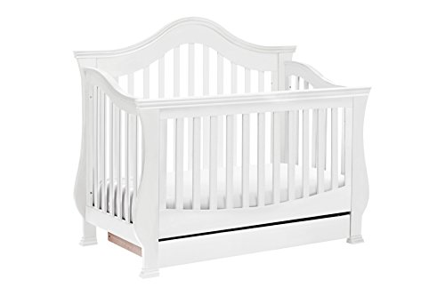 Classic Ashbury 4-in-1 Convertible Crib with Toddler Bed Conversion Kit, White ()