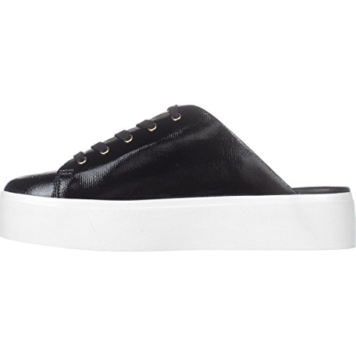 Calvin Klein Womens Jaleh Low Top Lace Up Fashion Sneakers, Black, Size 6.0