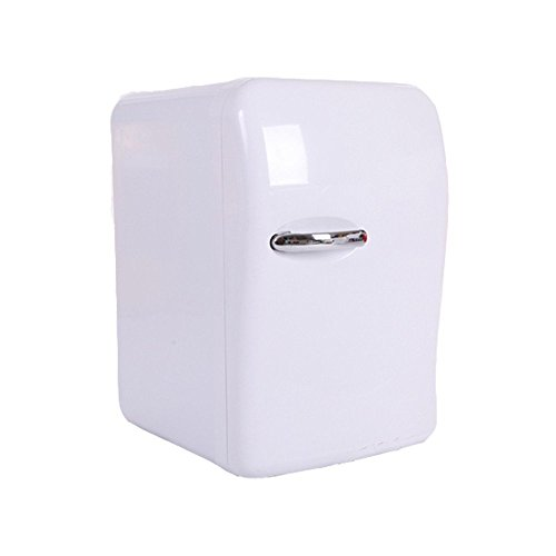 Portable 20L Mini Fridge Electric Cooler and Warmer, Thermoelectric System, DC 12V / AC 110V Power for Home, Office, Car & Boat (White) (Ac Refrigerator)