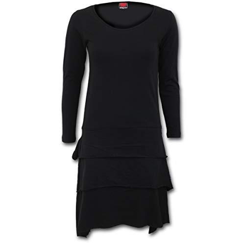 Femme Robe Spiral Noir Spiral Robe Femme Noir noir noir ZqCxXw5anY
