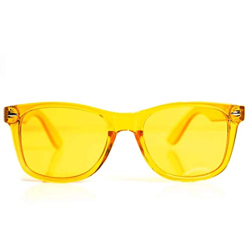 (GloFX Yellow Color Therapy Glasses Chakra Glasses Relax Glasses)