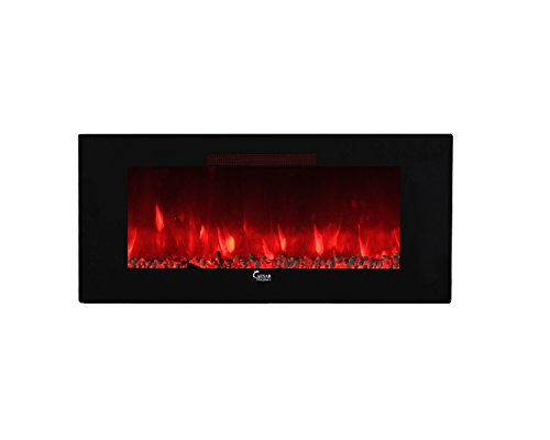 Azure Sky AS-50B Electric Fireplace, 50 Inch, Black