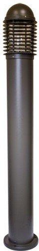 Dabmar Lighting D3300-BZ Powder Coated Cast Aluminum Bollard, Bronze