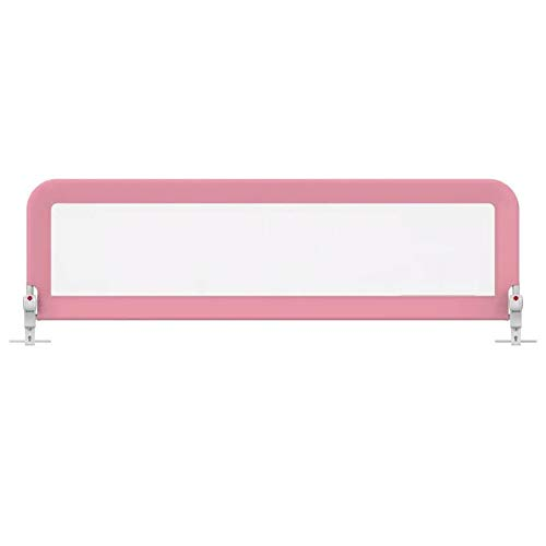 WHAIYAO Bed Rail Guard Child Bezel Quick Installation One-Button Folding 3 File Adjustment, 2 Colors, 2 Sizes (Color : Pink, Size : - Bezel Installation