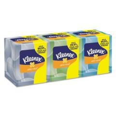 Kimberly-Clark Professional Facial Tissues, Anti-Viral, 68 Shts, 3/BX, White