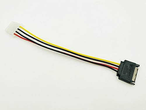 TL-ANALOG 5PCS 20cm SATA 15Pin to 4Pin Power Cable Serial ATA 15pin Male to Molex IDE 4pin Female Power Supply Cable for BTC Miner Mining 20cm
