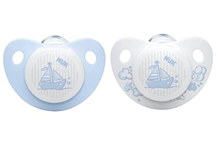 NUK 10176020 - Chupete de silicona para bebé (2 unidades, grupo 2, 6 ...