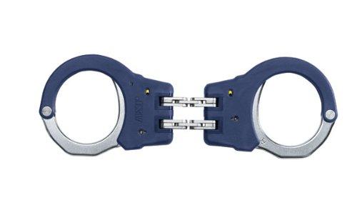 ASP Blue Identifier Hinge Handcuffs (Steel) - Asp Hinged Handcuffs