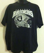Reebok Raiders Oakland Shirt - Oakland Raiders Black Ments Helmet Tee Shirt (LARGE)
