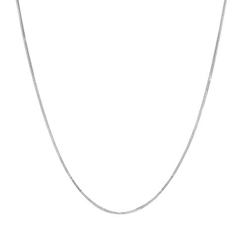 18 Inch 10k white Gold Foxtail Chain Necklace (0.9 mm)