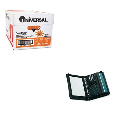 KITUNV21200UNV25650 - Value Kit - Universal Zip-Around Padfolio (UNV25650) and Universal Copy Paper (UNV21200)