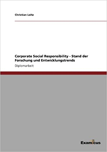 Corporate Social Responsibility - Stand der Forschung und Entwicklungstrends
