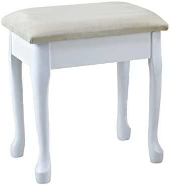 aspect lily wooden dressing table stool with padded seat and storage rh amazon co uk white wooden stool chair white wooden stool for dressing table