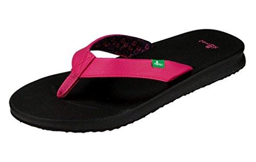 Sanuk Womens Yoga Mat Wander Sandal Footwear, Fuchsia, Size 10