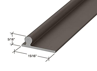 "CRL Bronze 72"" Sliding Glass Door Replacement Rail"