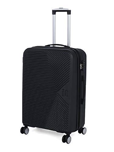 it luggage Aligned Polycarbonate Hardsided Suitcase|Expandable Large Travel Bag | 8 Wheel Trolley | 16 2304 08 |Black Trim, 71cm
