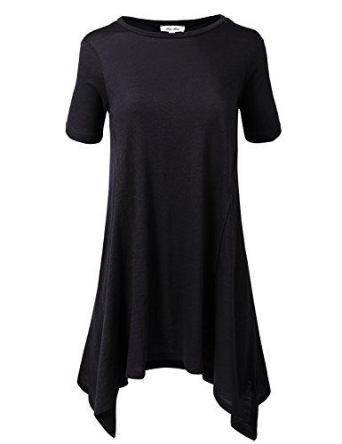 Basic Cotton Modal Slub Short Sleeve Longline Tee Tops