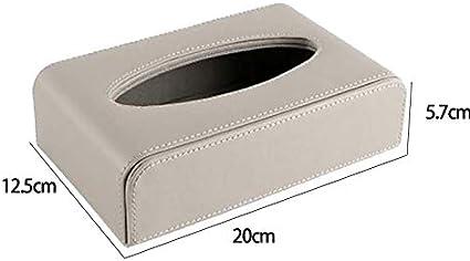Kentop Bo/îte /à mouchoirs rectangulaire en Cuir synth/étique Cuir synth/étique polyur/éthanne Gris 20 * 12.5 * 5.7cm