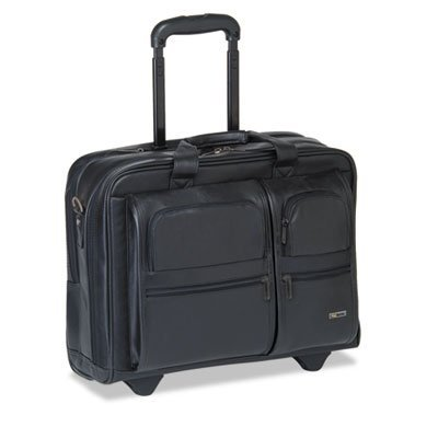 USLD9574 - Solo Classic 15.6amp;quot; Leather Rolling Case by SOLO by SOLO