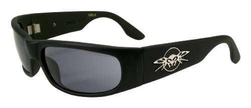 Black Flys Micro Fly Sunglasses (Black Flys Sonic Fly Sunglasses - Matte Black w/Smoke Lenses)