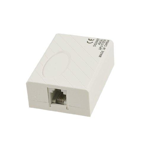 Uxcell Phone ADSL Modem RJ11 6P2C Plug Line Splitter, Beige for Landline Telephone