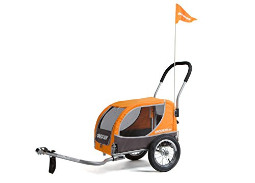 Croozer Mini - 2 in 1 Small Pet Trailer Orange / Grey by Croozer