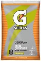 Gatorade 51 Ounce Instant Powder Pouch - Yields 6 Gallons (14 Packets) - Flavor: Lemon Lime by Gatorade
