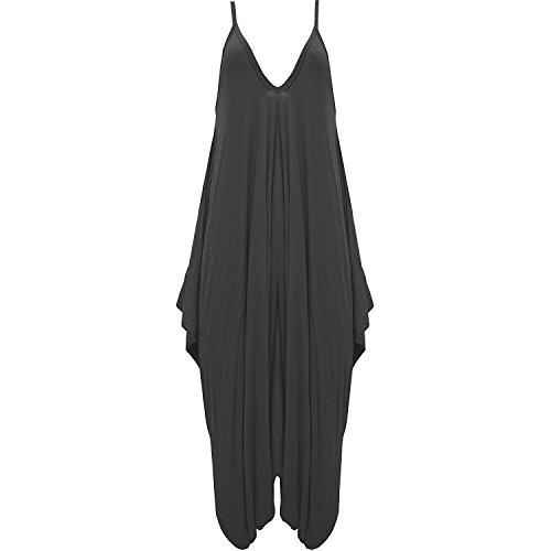 grossa maniche Senza 50 Vestito 48 Donna UK Generic Sconosciuto Taglia Black qx07nA0tw