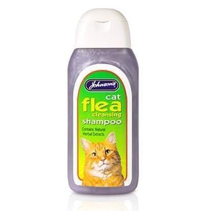 Nueva marca de Johnsons Gato pulgas Wash baño tratamiento Champú para gatos Gatitos Limpieza pulgas